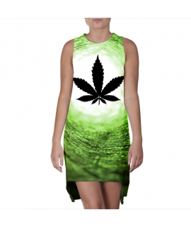 Vortex Green World Dress