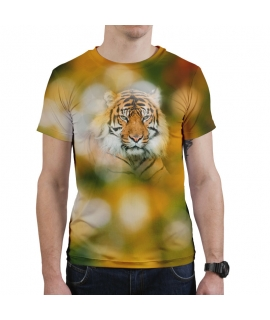 Bokeh tiger man T-Shirt