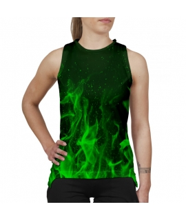 Green Flames tank-top