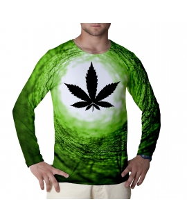 Vortex Green World long sleeve t-shirt