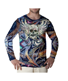 Skull N Spray long sleeve t-shirt