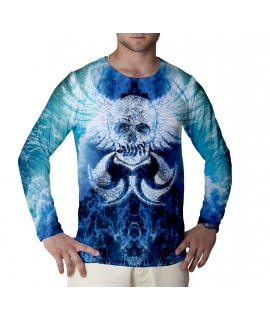 Ocean Skull long sleeve t-shirt