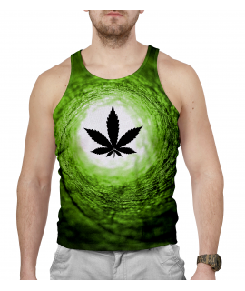 Vortex Green World Tank-top