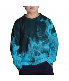 Blue Flames Sweater for kids