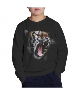 Sweater Black Tiger for kids