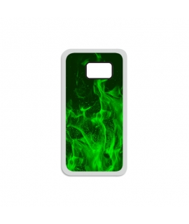 Green Flames Samsung Case
