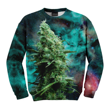 Fullprint Sweater Marijuana