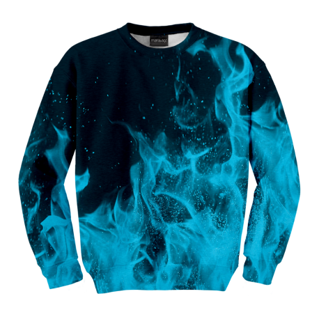 Blue Flames Sweater