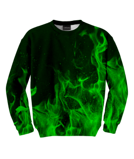 Bluza Green Flames