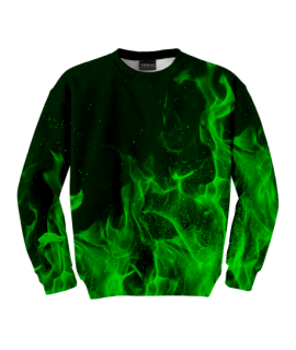 Green Flames Sweater