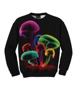 Colorful  Shrooms Sweater