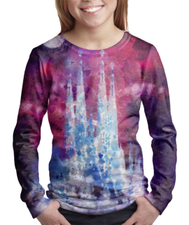 Barcelona Night t-shirt for girls