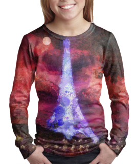 Paris Night t-shirt for girls