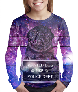 Wanted Dog t-shirt for girls